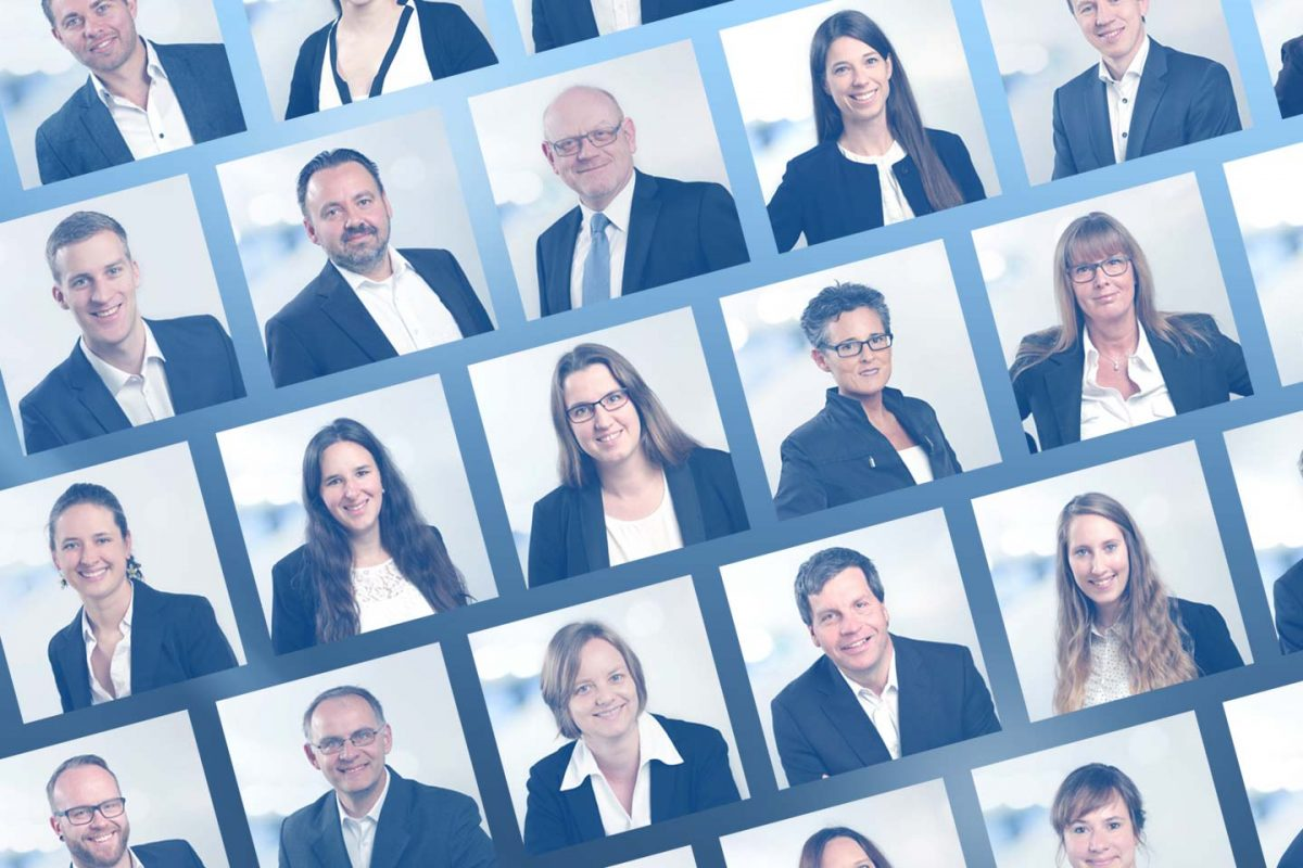 Mitarbeiter-Collage